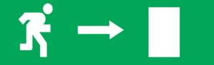 Знак эвакуации Е03