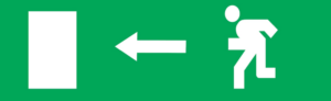 Знак эвакуации Е04