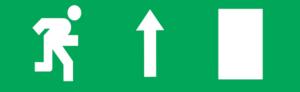 Знак эвакуации Е11 Направление к эвакуационному выходу прямо