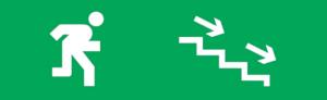 Знак эвакуации E13