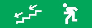 Знак эвакуации E14