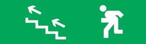 Знак эвакуации E16