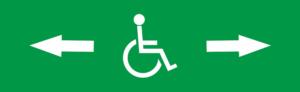 Знак эвакуации Инвалид стрелка вправо-влево