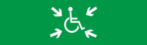Знак эвакуации Место сборпа МГН