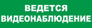 Знак эвакуации Ведётся видеонаблюдение з.ф.