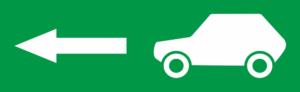 знак эвакуации Выезд стрелка влево